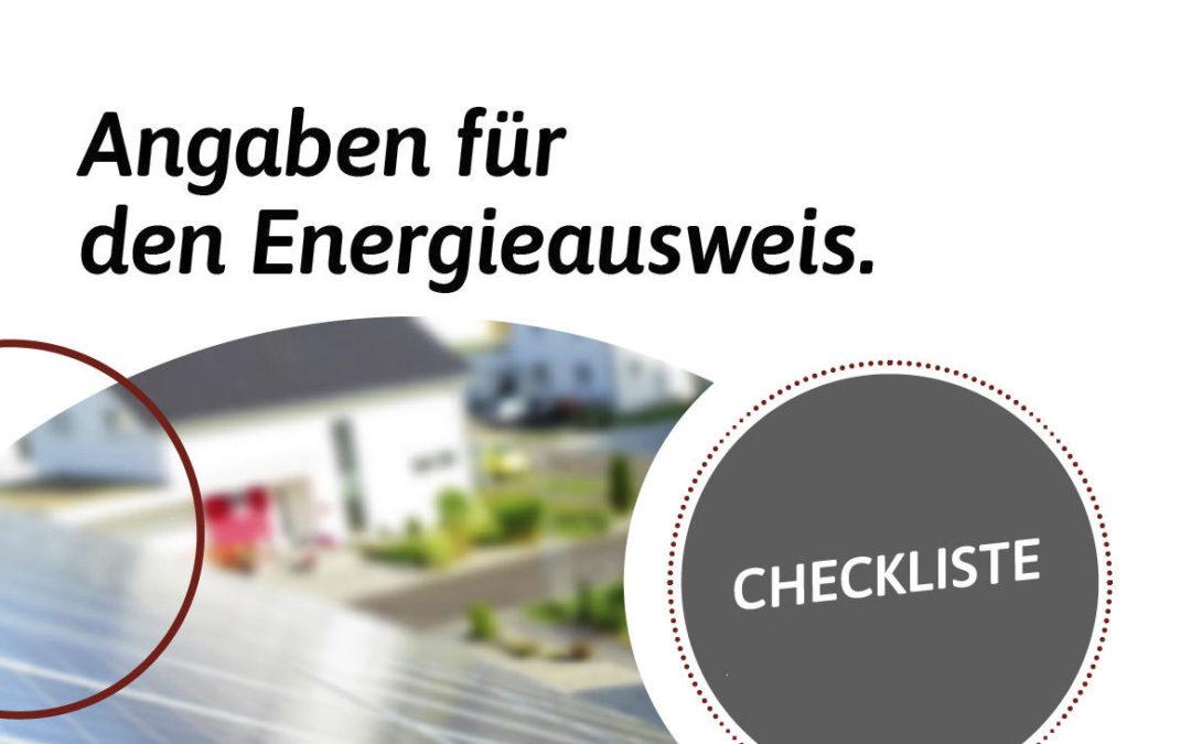 Checkliste: Verbrauchsorientierter Energieausweis