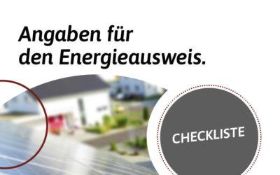Checkliste: Verbrauchsorientierter Energieausweis in der Region Nürnberg, Roth, Schwabach, Feucht