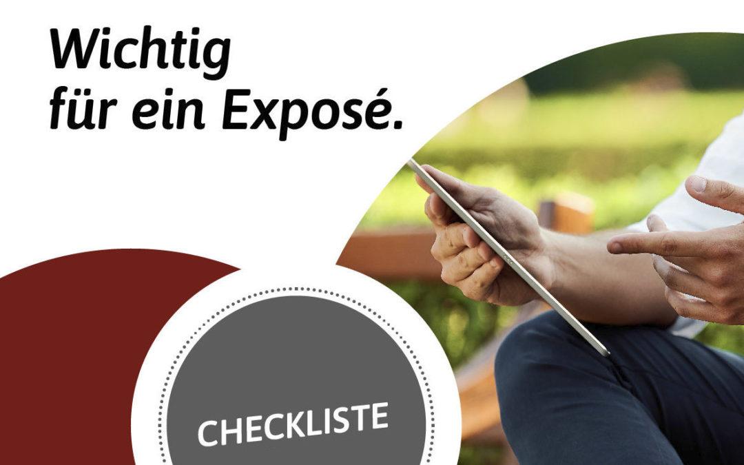 Checkliste: Was für ein gutes Exposé wichtig ist