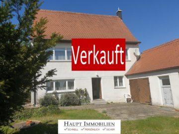 VERKAUFT!! Ehemaliges Bauernhaus mit Blick über Wiesen und Felder, 91166 Georgensgmünd OT, Haus
